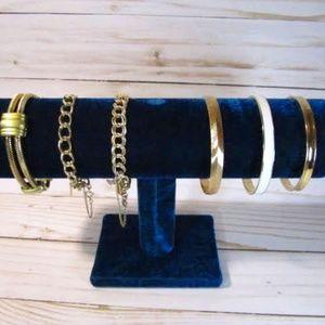 Vintage Monet Gold Bracelets -Lot of 6-